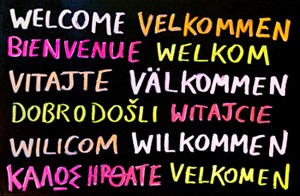 """Welcome"" in various languages"