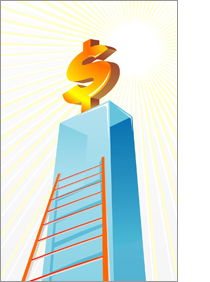 Corporate Ladder illustration