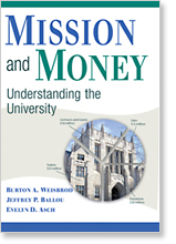 """Mission and Money - Understanding the University"" - book cover"