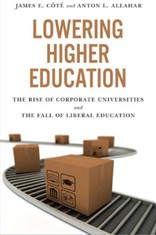 """Lowering Higher Education"" - book cover"