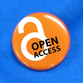 "Orange button saying ""Open Access"""