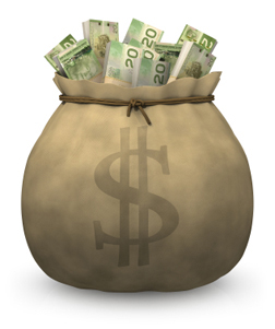 A bag full of cash